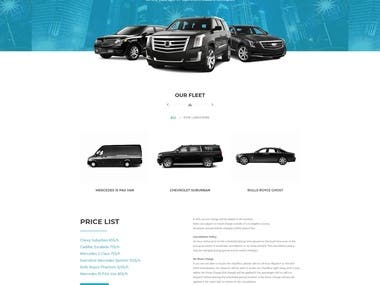 Chauffeur Booking Website By Wordpress