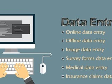 Data Entry, Web Searching,Excel,Photoshop Editing,Web Scrap
