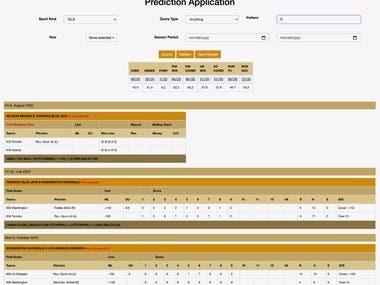 Game Prediction Web App