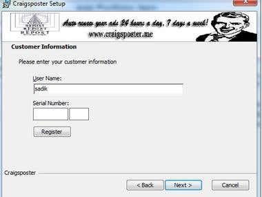 CraigsPoster 2013 Installer