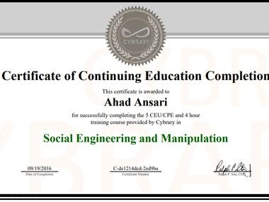 SOCIAL ENGINEERING AND MANIPULATION