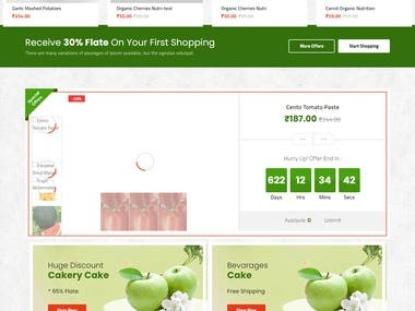 Grocery and Vegetable Delivery Website