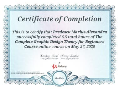 Graphic design certificate