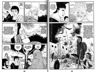 Historical comic + illustration