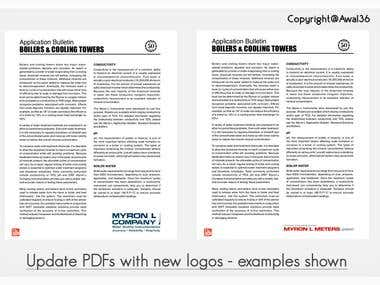 Update PDFs with new logos!