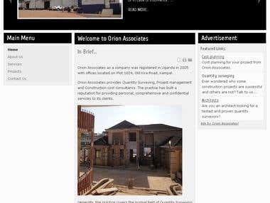 Web development for Orion Associates