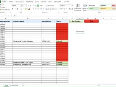 Excel Api Integration