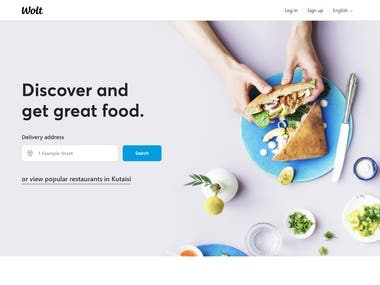 Food delivery website (React.js)