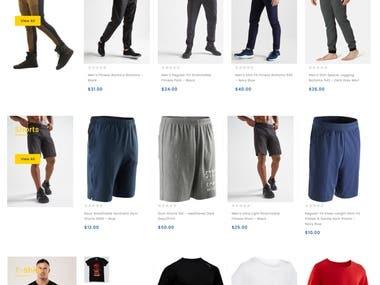 Online Gym Cloth Shop