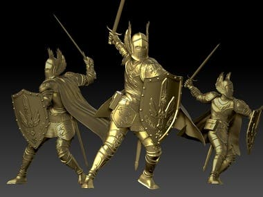 Sculpting for 3d printing, game