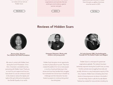 Hidden Scars NGO Website