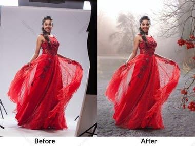 Photo Editing/ Background change And Manipulation