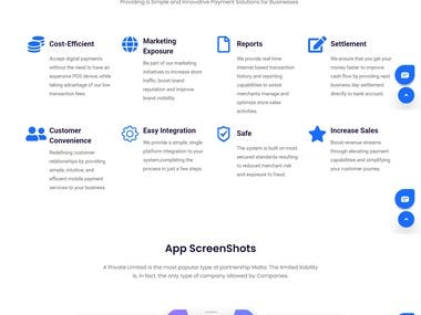 Landing Page for parapay.io Company