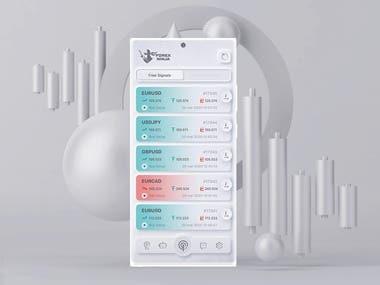Forex Ninja White App Design