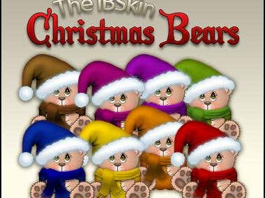 Custom Designed Christmas Bears