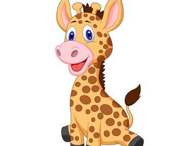 Animal illustration for kids