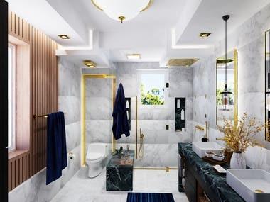 Master Bathroom - Sketchup with V-Ray