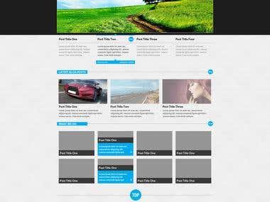 Carbon WordPress Theme Design