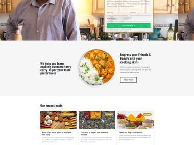 Small Island Curry website