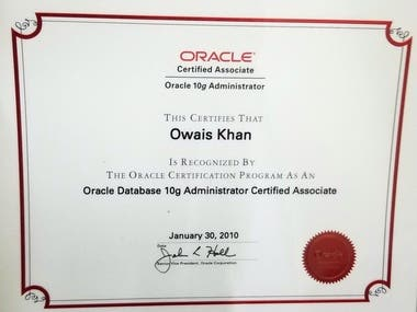 Oracle Database Administrator Certified Associate