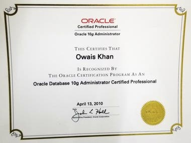 Oracle Database Administrator Certified Professional