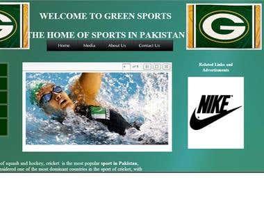 a sports website