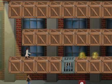 Game Scene - Vector Graphic