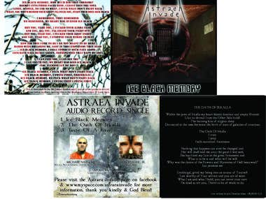 Astraea Invade - Ice Black Memory Single Artwork