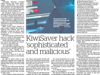 Newspaper Article - 2020 Financial Services Breach
