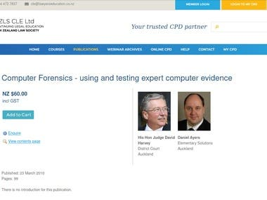 Law Society Course on Computer Forensics