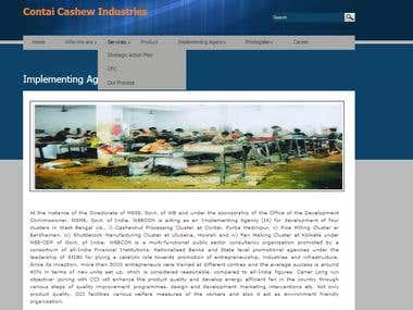PHP, custom CMS-Website for Cashew nut industries
