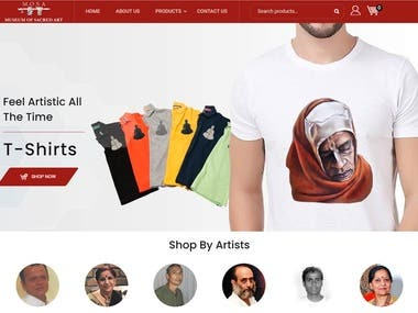 E commerce website building for art printing materials