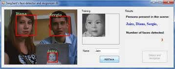 C# face detection and recognition in sql server