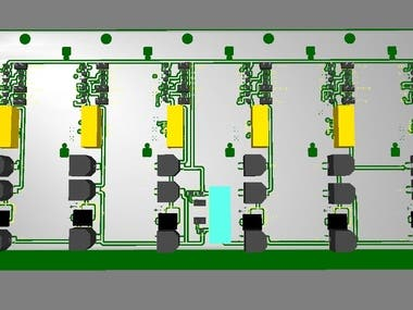 Server SAS-SATA back-plane 6 HDDs PCB design project