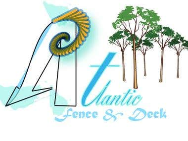Atlantic Fence & Deck logo