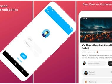Blogging Android App