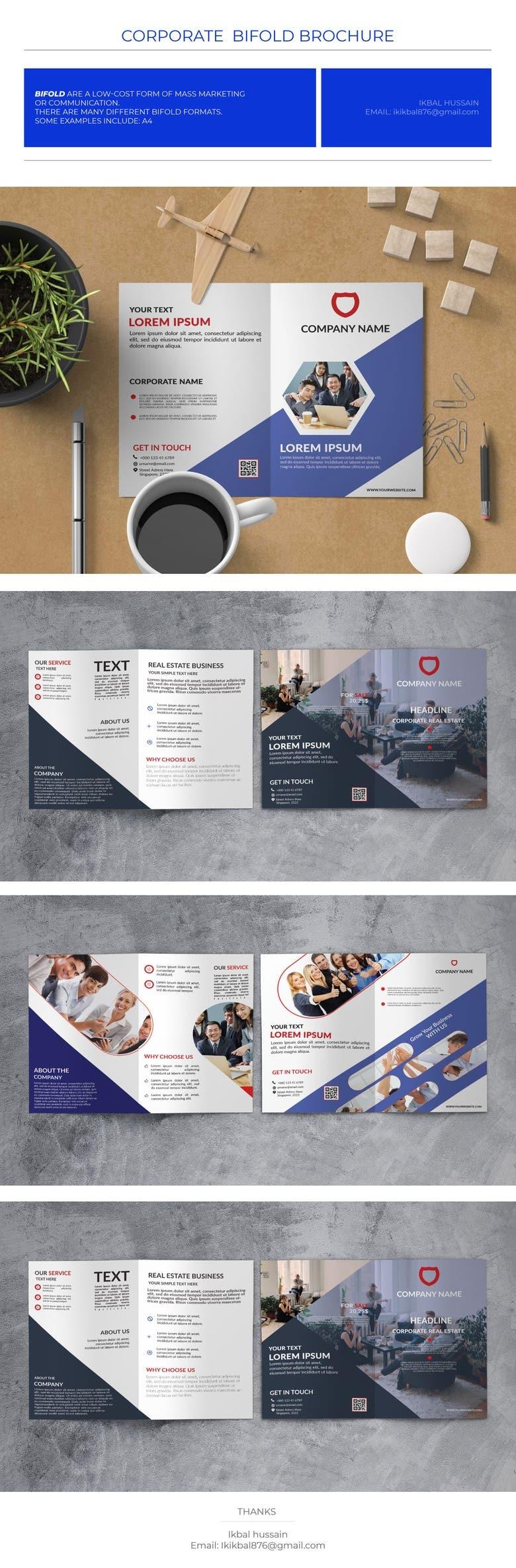 Professional Bi Fold Brochure Design Template Freelancer