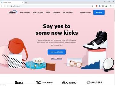 React based Sales web app