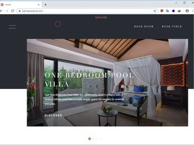 Retail website