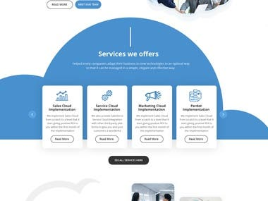 Cloud Services Website