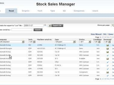 Stock Manager software