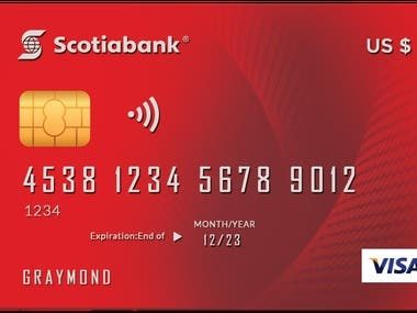CREDIT/DEBIT MASTER CARD DESIGN