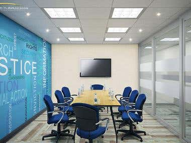 Meeting room 3D rendering