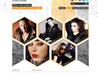 Music Wordpress Site Concept Design