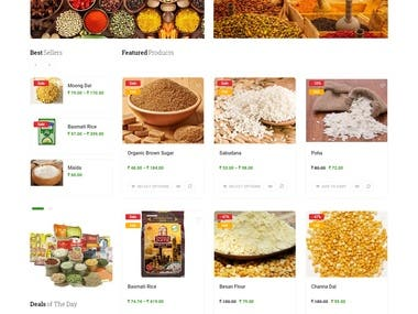 Eat Healthy- Online grocery store