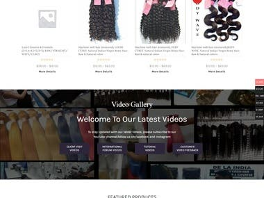 Dela India- Hair extension selling Website