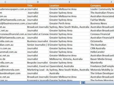Business Network Data Scraping