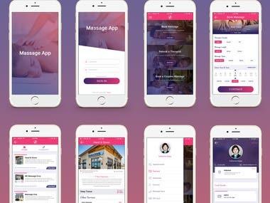 on Demand app for Massage