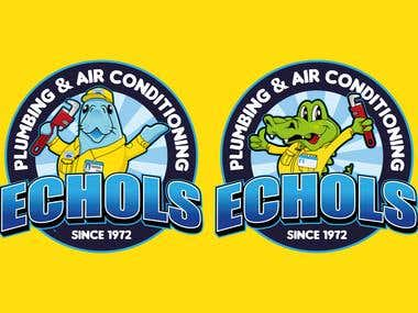 The Mascot & Logo of Echols Plumbing & AC Service
