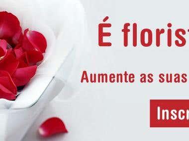 Banners Flores para Entrega